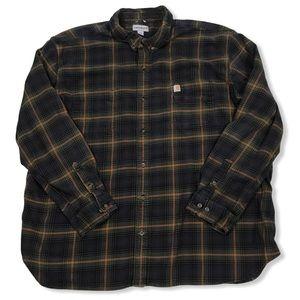 Carhartt Flannel Shirt Plaid Original Fit 5XL